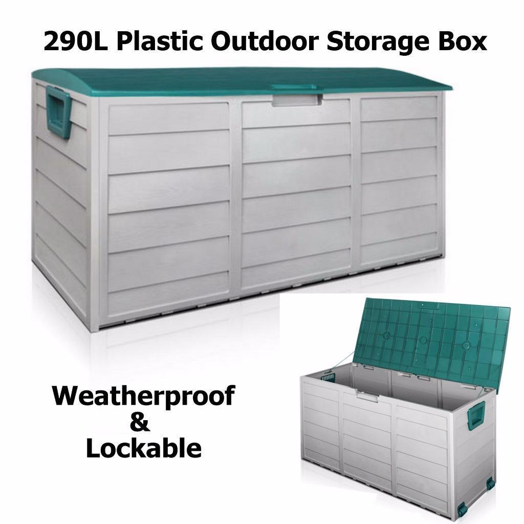 Home Fresh Living 290l Plastic Outdoor Storage Box